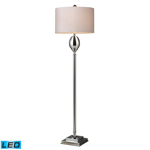 Dimond Lighting Dimond Lighting Chrome Plated Glass LED Floor Lamp with Drum Shade D1427W-LED