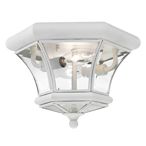 Livex Lighting Livex Lighting Monterey/georgetown White Flushmount Light 7052-03