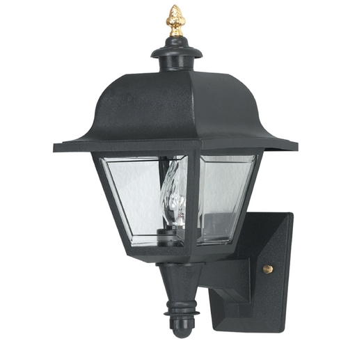 Wave Lighting Wave Lighting Marlex Saxony Black Outdoor Wall Light 408