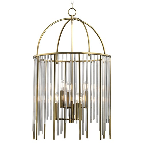 Hudson Valley Lighting Lewis 6 Light Pendant Light - Aged Brass 2520-AGB