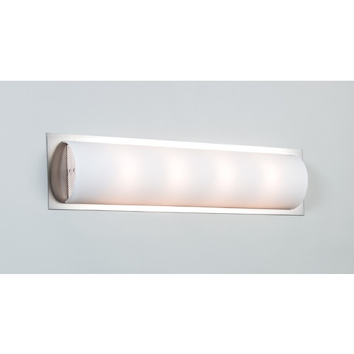 Illuminating Experiences Visual Satin Nickel Bathroom Light - Vertical or Horizontal Mounting Visual5SN