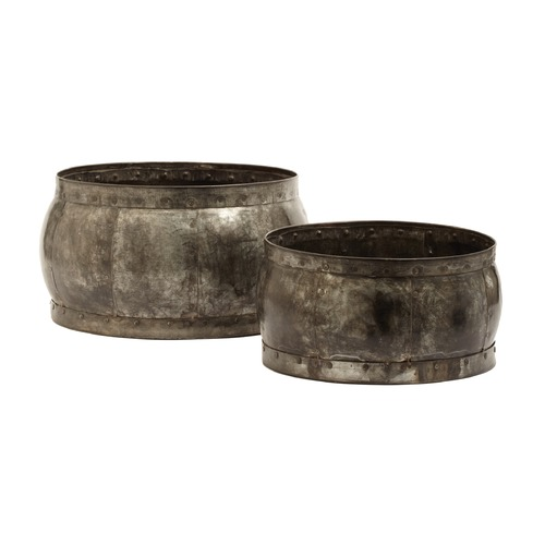 Dimond Home Fortress Barrel Dishes - Set Of 2 135007