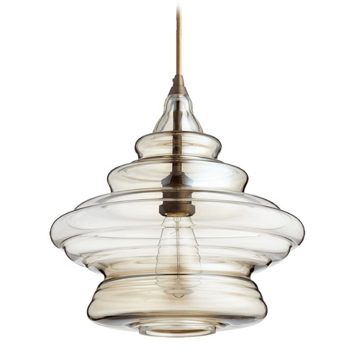 Quorum Lighting Quorum Lighting Oiled Bronze Pendant Light with Bowl / Dome Shade 8003-386