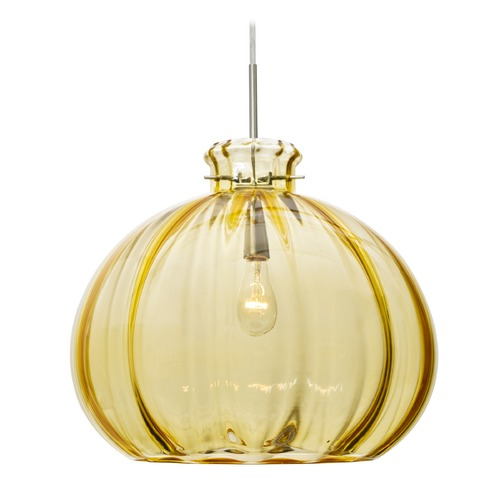 Besa Lighting Besa Lighting Pinta Satin Nickel Pendant Light with Bowl / Dome Shade 1JT-4645GD-SN