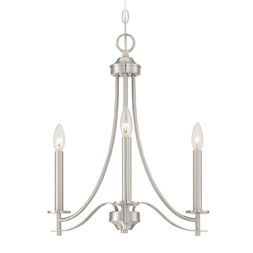 Designers Fountain Lighting Designers Fountain Cassina Satin Platinum Chandelier 86983-SP