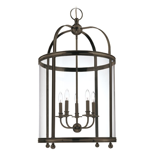 Hudson Valley Lighting Pendant Light with Clear Glass in Distressed Bronze Finish 7820-DB
