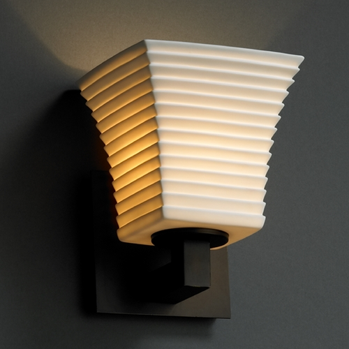 Justice Design Group Justice Design Group Limoges Collection Sconce POR-8921-40-SAWT-DBRZ