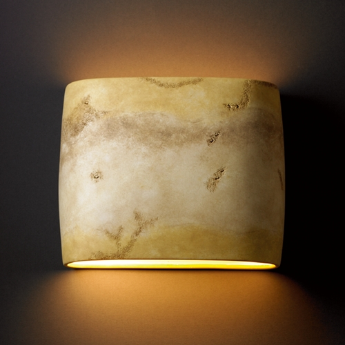 Justice Design Group Sconce Wall Light in Greco Travertine Finish CER-8855-TRAG