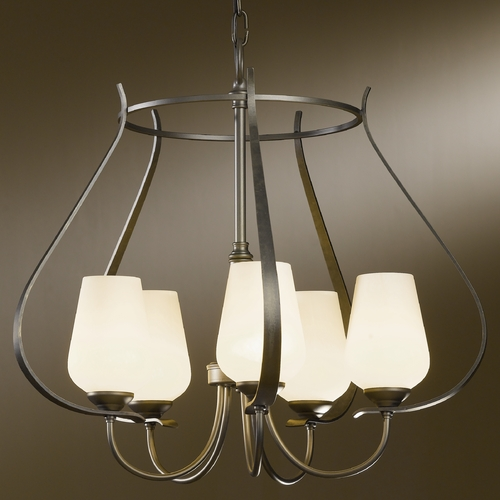 Hubbardton Forge Lighting Hubbardton Forge Lighting Flora Dark Smoke Chandelier 103045-07-ZX303