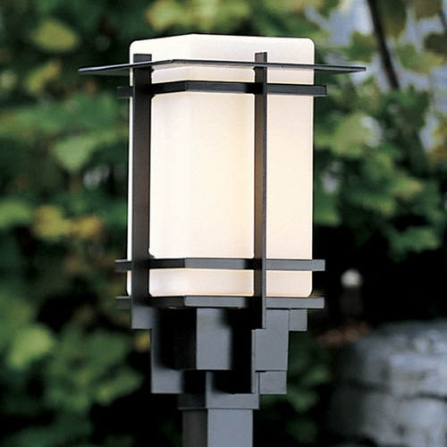 Hubbardton Forge Lighting Hubbardton Forge Lighting Tourou Black Post Light 346011-SKT-10-GG0076