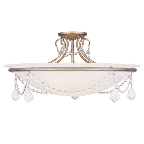 Livex Lighting Livex Lighting Chesterfield/pennington Antique Silver Leaf Semi-Flushmount Light 6526-73