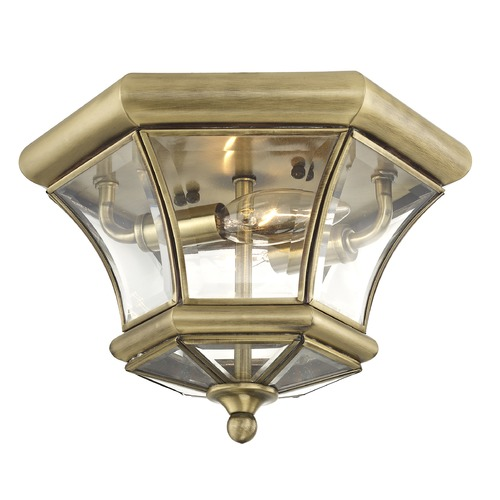 Livex Lighting Livex Lighting Monterey/georgetown Antique Brass Flushmount Light 7052-01