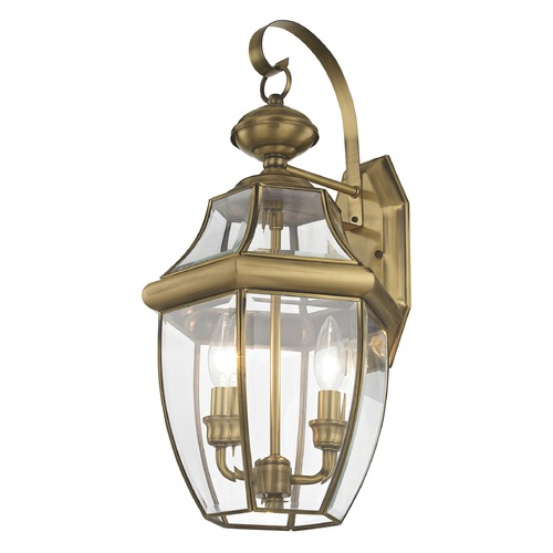 Livex Lighting Livex Lighting Monterey Antique Brass Outdoor Wall Light 2251-01