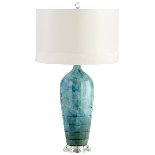 Cyan Design Cyan Design Elysia Blue Glaze Table Lamp with Drum Shade 05212