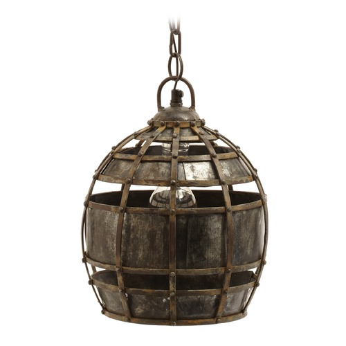 Dimond Lighting Round Fortress Pendant Light 135008