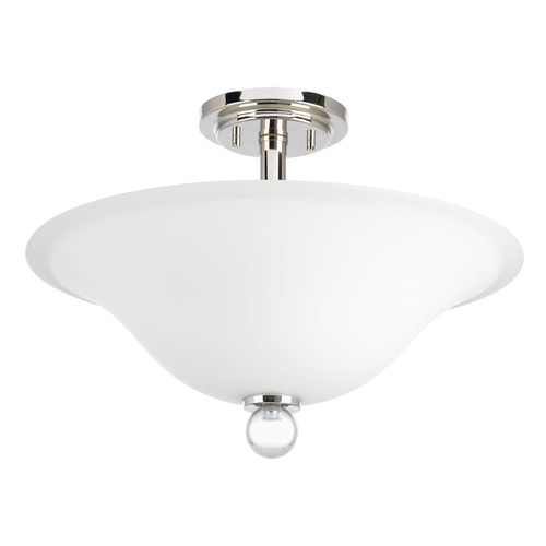 Progress Lighting Progress Lighting Elina Polished Nickel Semi-Flushmount Light P3672-104