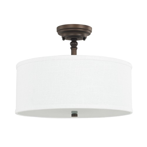 Capital Lighting Capital Lighting Loft Burnished Bronze Semi-Flushmount Light 3923BB-480