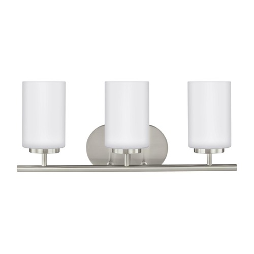 Sea Gull Lighting Sea Gull Lighting Oslo Brushed Nickel Bathroom Light 41162-962