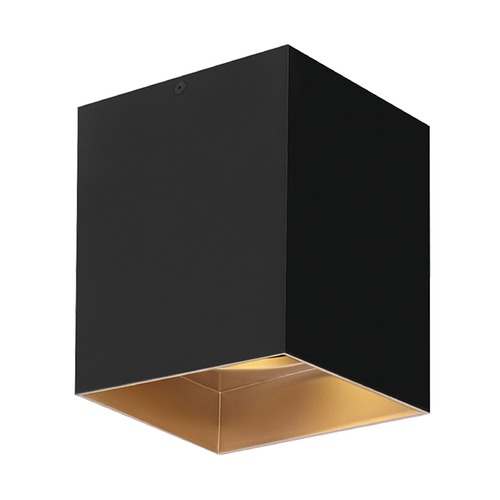 Tech Lighting Black / Gold Haze LED Flushmount Ceiling Light by Tech Lighting 700FMEXO640BG-LED927