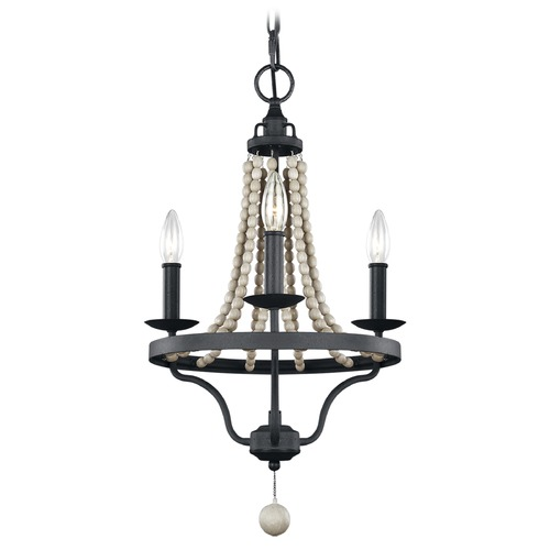 Feiss Lighting Feiss Lighting Nori Dark Weathered Zinc / Driftwood Grey Mini-Chandelier F3188/3DWZ/DWG