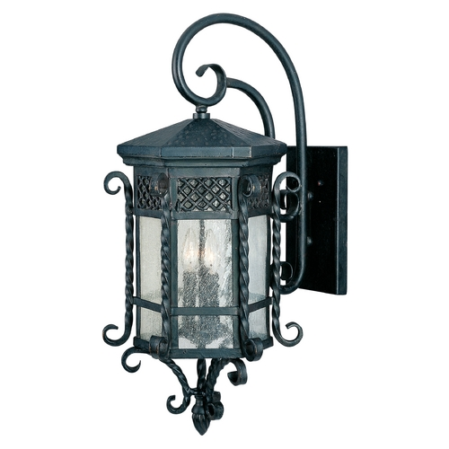 Maxim Lighting Outdoor Wall Light with Clear Glass in Country Forge Finish 30125CDCF