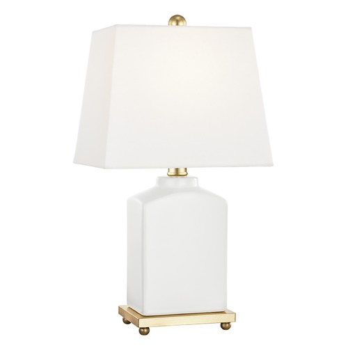 Mitzi by Hudson Valley Mitzi By Hudson Valley Brynn Cloud Table Lamp with Rectangle Shade HL268201-CL