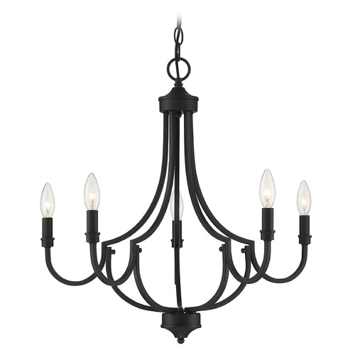 Savoy House Savoy House Lighting Auburn Matte Black Chandelier 1-2005-5-89