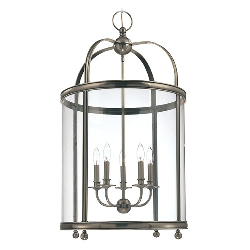 Hudson Valley Lighting Pendant Light with Clear Glass in Historic Nickel Finish 7820-HN