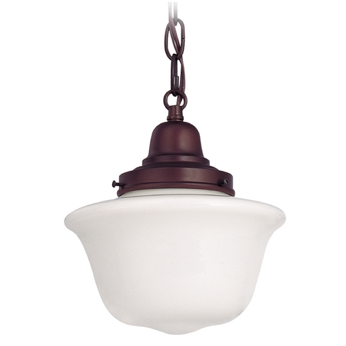 Design Classics Lighting 8-Inch Period Lighting Schoolhouse Mini-Pendant Light with Chain FB4-220 / GD8 / B-220