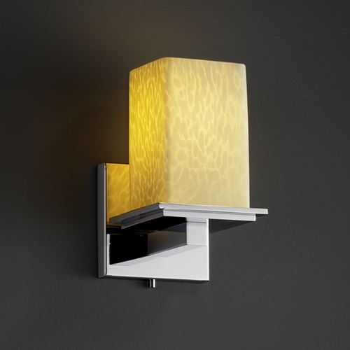 Justice Design Group Justice Design Group Fusion Collection Sconce FSN-8671-15-DROP-CROM