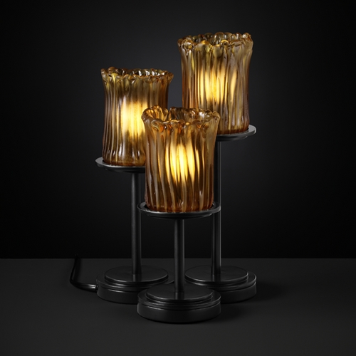 Justice Design Group Justice Design Group Veneto Luce Collection Table Lamp GLA-8797-16-AMBR-MBLK