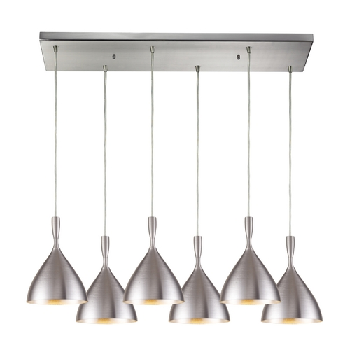 Elk Lighting Modern Multi-Light Pendant Light 6-Lights 17042/6RC-ALM