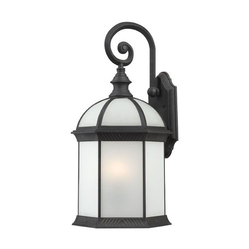 Nuvo Lighting Outdoor Wall Light with White Glass in Textured Black Finish 60/4983