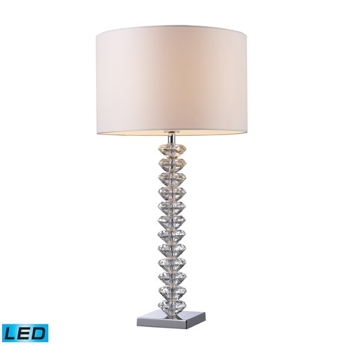 Dimond Lighting Dimond Lighting Clear Crystal LED Table Lamp with Drum Shade D1483-LED