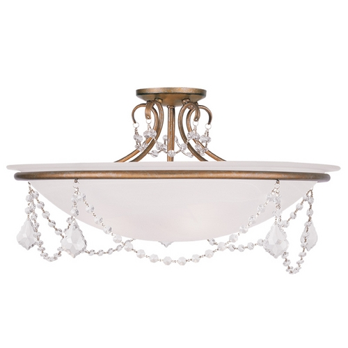 Livex Lighting Livex Lighting Chesterfield/pennington Antique Gold Leaf Semi-Flushmount Light 6526-48