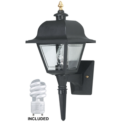 Wave Lighting Wave Lighting Marlex Saxony Black Outdoor Wall Light 408-G18