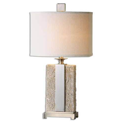 Uttermost Lighting Uttermost Bonea Stone Ivory Table Lamp 26508-1