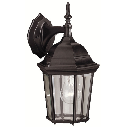 Kichler Lighting Kichler Outdoor Wall Light with Clear Glass in Black Finish 9650BK
