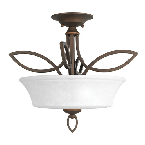Progress Lighting Progress Lighting Monogram Roasted Java Semi-Flushmount Light P3674-102