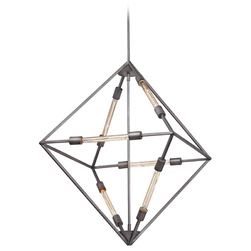 Elk Lighting Elk Lighting Laboratory Weathered Zinc Pendant Light 66896/6