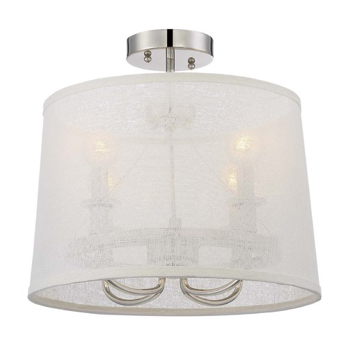 Crystorama Lighting Crystorama Lighting Culver Polished Nickel Semi-Flushmount Light 2294-PN_CEILING