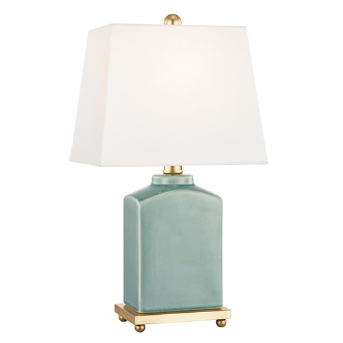 Mitzi by Hudson Valley Mitzi By Hudson Valley Brynn Jade Table Lamp with Rectangle Shade HL268201-JD