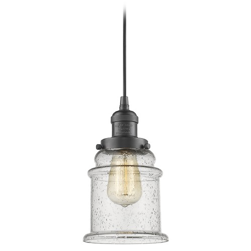 Innovations Lighting Innovations Lighting Canton Oil Rubbed Bronze Mini-Pendant Light with Bell Shade 201C-OB-G184