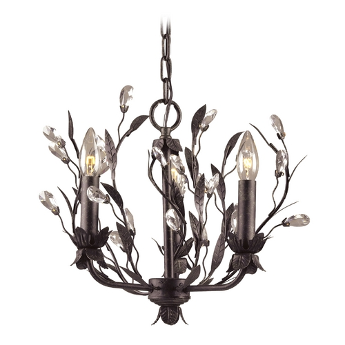Elk Lighting Mini-Chandelier in Deep Rust Finish 8058/3