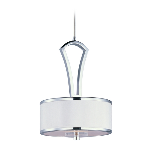 Maxim Lighting Modern Mini-Pendant Light with White Shade 92820BCWTPC
