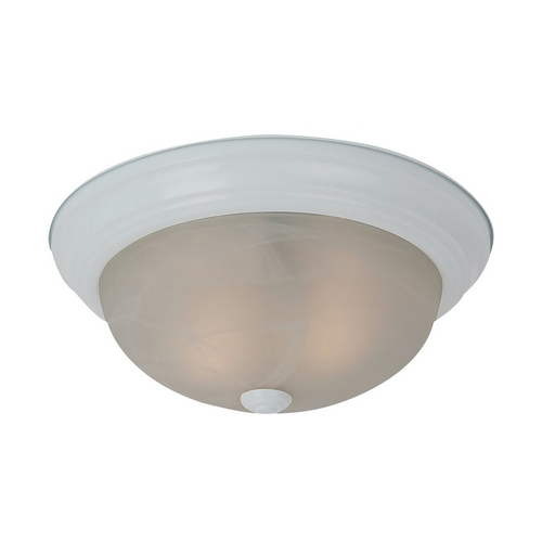 Sea Gull Lighting Flushmount Light with Alabaster Glass in White Finish 75940-15