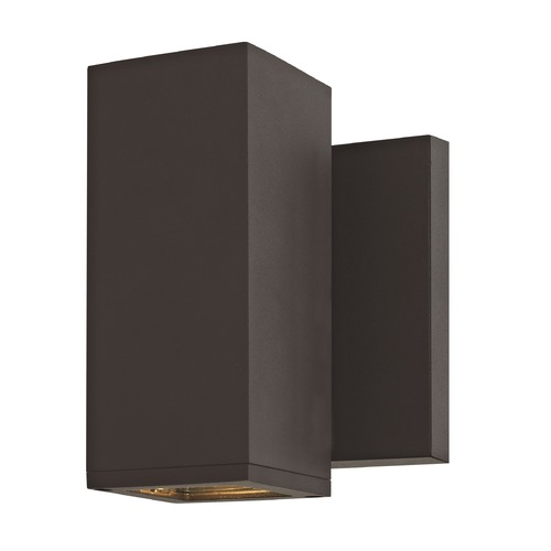 Design Classics Lighting Square Cylinder Outdoor Wall Light Bronze 1773-BZ