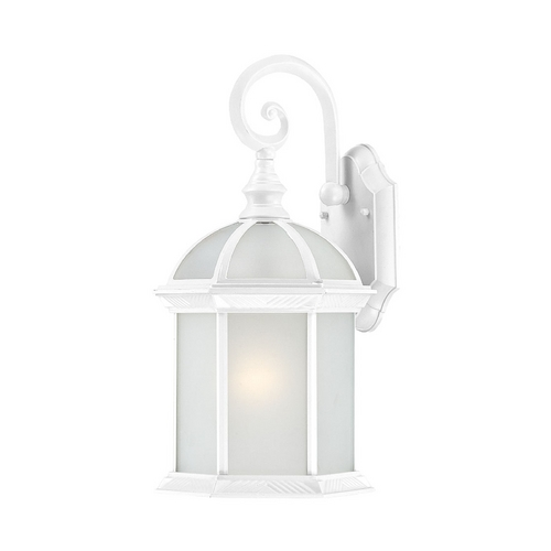 Nuvo Lighting Outdoor Wall Light with White Glass in White Finish 60/4984