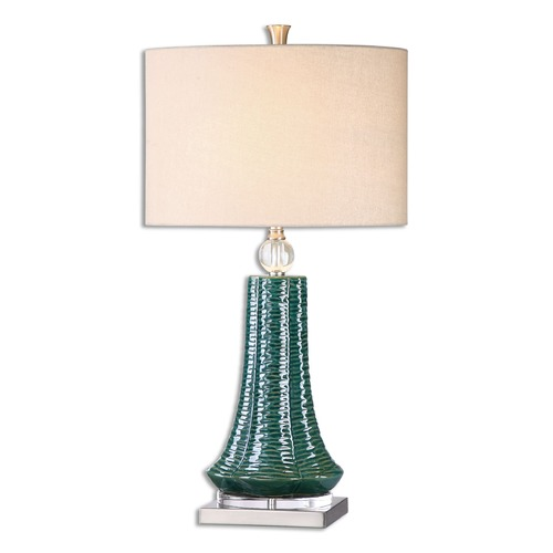 Uttermost Lighting Uttermost Gosaldo Textured Teal Table Lamp 26509-1