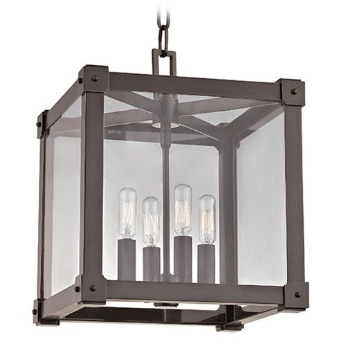 Hudson Valley Lighting Forsyth 4 Light Pendant Light Square Shade - Old Bronze 8612-OB